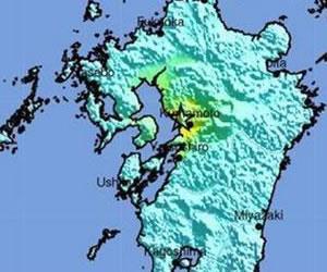 Sismo de 6,4 grados se registró en Kumamoto, Japón