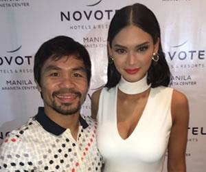Manny Pacquiao tuvo un gran gesto con la Miss Universo