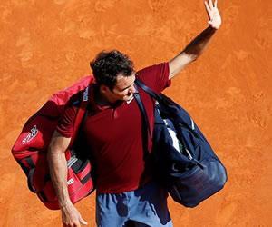 Montecarlo: Así fue la eliminación de Roger Federer por parte de Tsonga