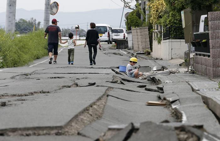 Segundo terremoto en Japón deja al menos 30 muertos y miles de heridos. Foto: EFE