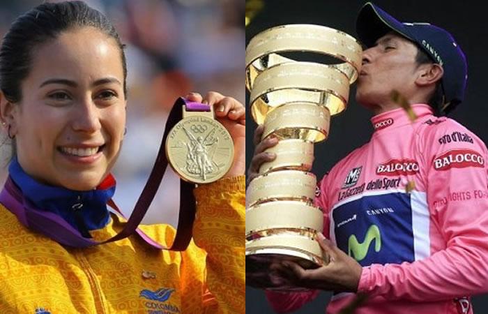 Mariana Pajón y Nairo Quintana han logrado los triunfos más importantes para el país en ciclismo. Foto: EFE