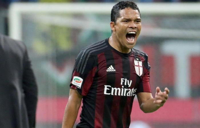 Carlos Bacca jugará como titular en el Milan. Foto: EFE