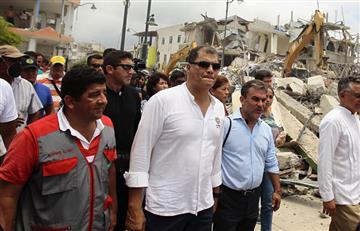 """Ecuador: """"Aquí nadie pide ayuda a gritos o sino pido que los arresten"""" dice Correa"""