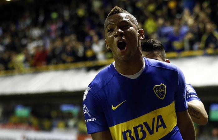 Frank Fabra fue el mejor jugador del partido para Carlos Tévez. Foto: EFE