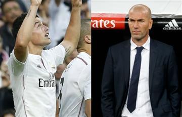 James Rodríguez recibe elogios de Zidane, pero sigue siendo suplente
