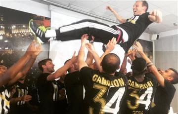 Así celebra la Juventus y Cuadrado su quinto título consecutivo