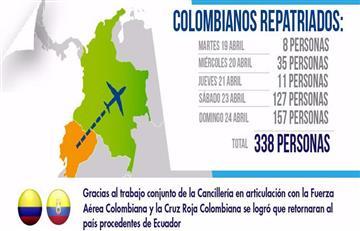 Terremoto en Ecuador: 338 colombianos repatriados y aún 93 desaparecidos