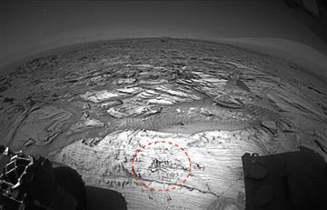 """Imagen de la NASA evidencia un """"hombre corriendo"""" en Marte"""
