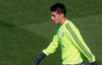 James Rodríguez sorprende a Zidane en un entrenamiento