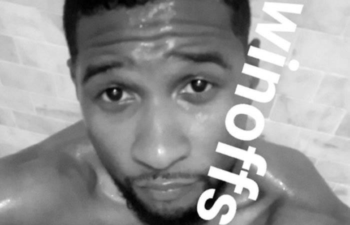 Usher se desnudó en Snapchat
