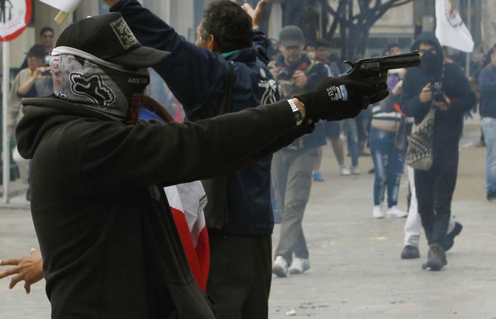 Hombre disparó a la Policía en la marcha de 1 de mayo