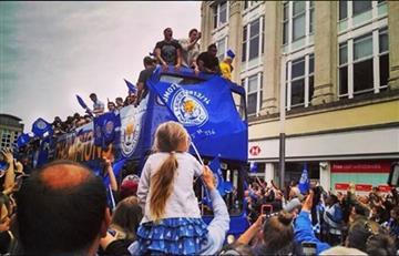 Leicester celebró el título en la casa de Jamie Vardy