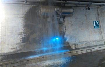 Túnel de Crespo, Cartagena, presenta filtraciones