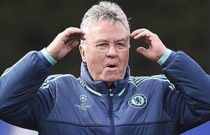 Guss Hiddink, entrenador del Chelsea. Foto: EFE