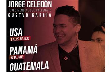 Jorge Celedón y su gira en Estados Unidos, Panamá y Guatemala