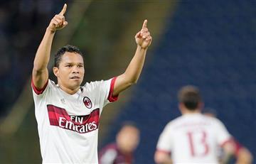 Un gol de Carlos Bacca significa tres puntos para el Milán
