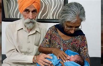 Mujer de 72 años da a luz a su primer hijo