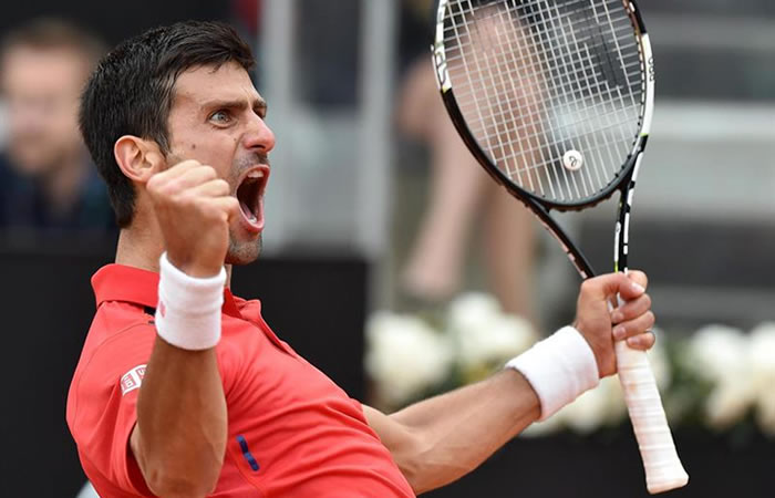 Djokovic celebra la victoria frente a Nadal. Foto: EFE