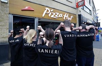 Leicester City recibió un homenaje de una pizzería