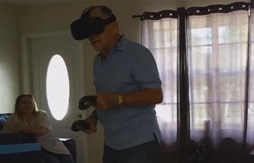 YouTube: Hombre disfruta de la realidad virtual a los 81 años