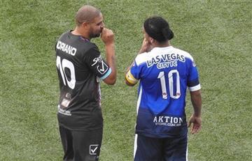 Ronaldinho tuvo que escapar de un partido en Las Vegas