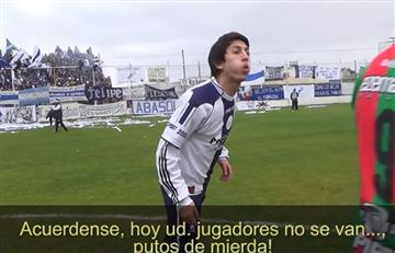 YouTube: hincha ingresó al campo e insultó jugadores rivales