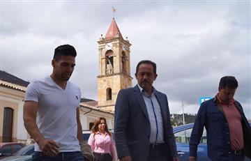 Falcao García visitó un municipio de Cundinamarca