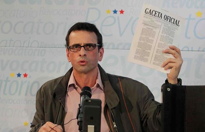 Capriles llamó a una movilización este miércoles. Foto: EFE