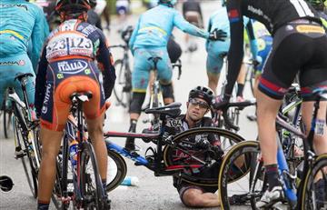 Las caídas del Giro