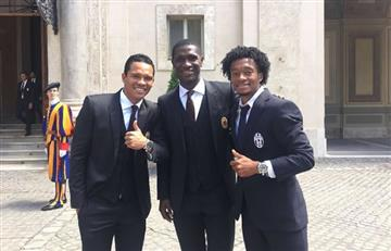 Cuadrado, Bacca y Zapata se vieron antes de la final de la Copa de Italia