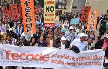 Fecode convoca a paro Nacional el próximo 1 de junio