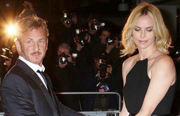 Sean Penn y Charlize Theron separados en Cannes