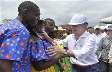 Santos pide a comunidad Afro apoyar el plebiscito por la paz