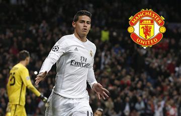 James Rodríguez sería llevado al Manchester United por Jorge Mendes