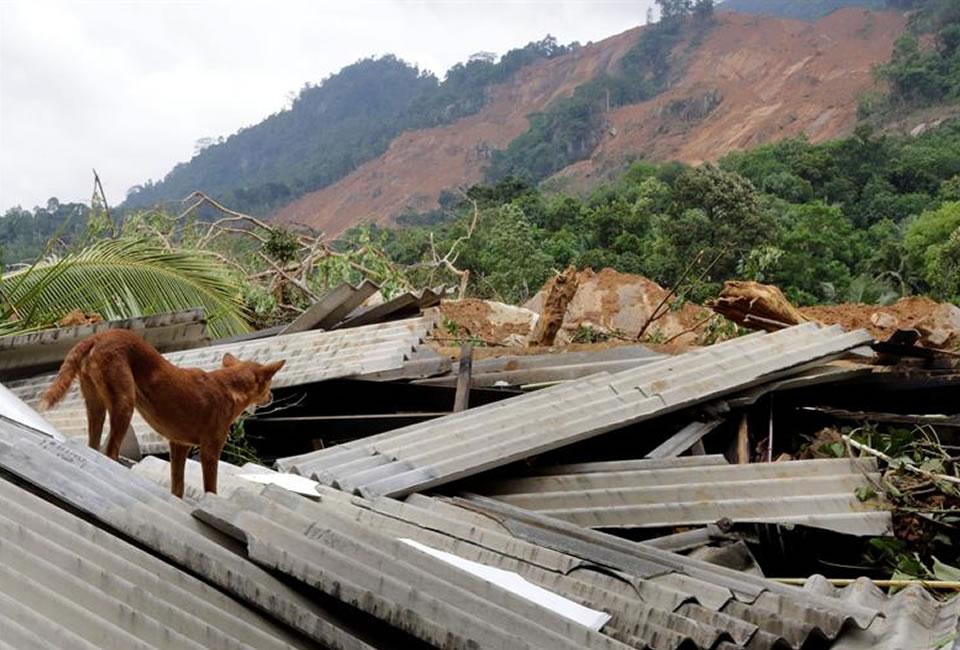 Fuertes lluvias azotan a Sri Lanka. Foto: EFE