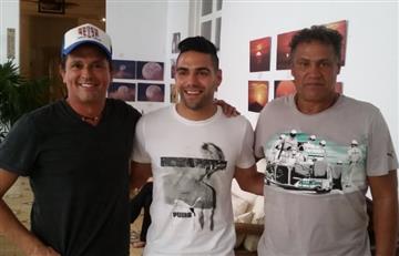 Falcao García y Carlos Vives juntos en Santa Marta