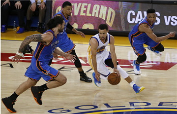 NBA: Con estas jugadas, los Warriors vencieron a los Thunder