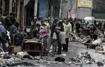 Plaza España se convirtió en refugio de habitantes de calle