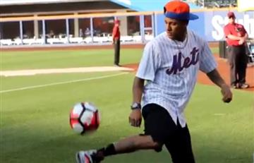 VIDEO: Neymar entrenó con los Mets