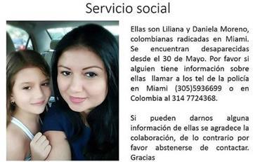 Estados Unidos: Una colombiana y su hija están desaparecidas
