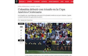 Copa América 2016: así titularon los medios nacionales la victoria de Colombia
