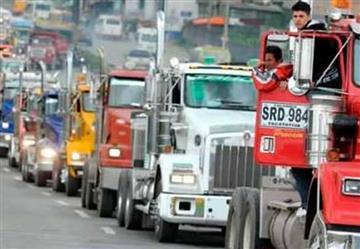 Paro de camioneros afectará transporte de alimentos