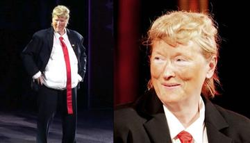 Donald Trump es imitado por Meryl Streep