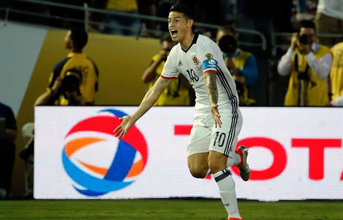James Rodríguez celebra su gol. Foto: EFE