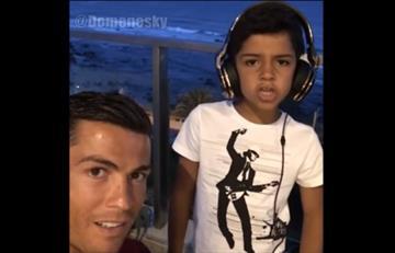 VIDEO: Cristiano Ronaldo puso a su hijo a cantar reguetón