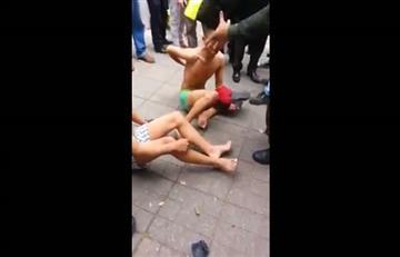 """Ahora el castigo para los ladrones en Bogotá es """"empelotarlos"""""""
