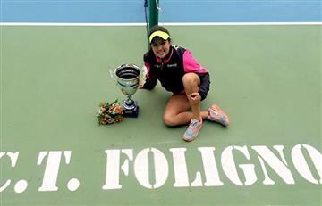 Con 14 años, María Camila Osorio gana torneo internacional de Tenis