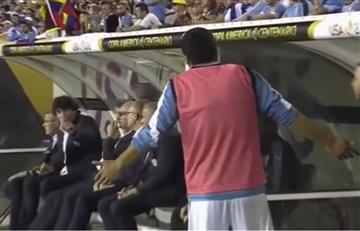 Copa América 2016: increíble enfado de Luis Suárez con su entrenador