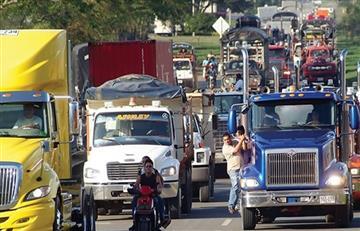 Se agudiza paro camionero en Colombia