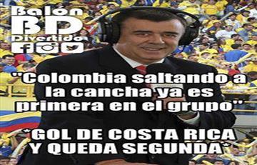 Colombia vs. Costa Rica: Los mejores memes del partido
